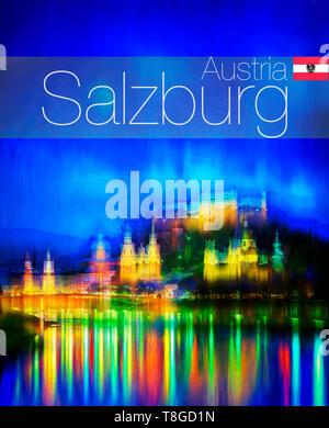 TRAVAL CONCEPT: Salzburg - Stock Image