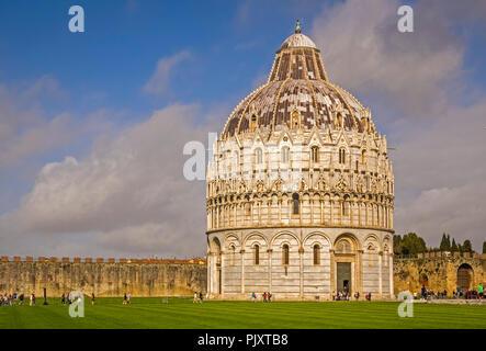 Baptistry of St. John Pisa Tuscany Italy - Stock Image