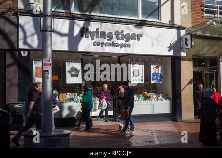 The Flying Tiger of Copenhagen store in Broad Street,Reading, Berkshire. - Stock Image