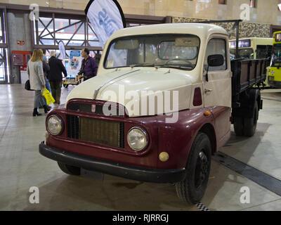 Old Fiat truck. Retro Málaga 2019. Spain. - Stock Image