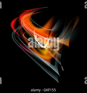 Burn flame fire vector abstract background - Stock Image