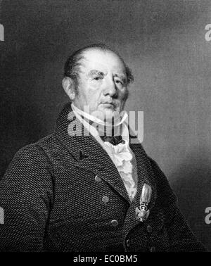 Aaron Ogden (1756-1839) on engraving from 1834. United States Senator and 5th Governor of New Jersey. - Stock Image