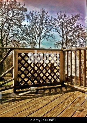 Backyard porch - Stock Image