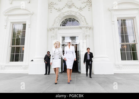 The official arrival ceremony of the President of France and Mrs. Macron The Official State Visit of France - Stock Image