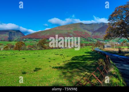 Cumbrian landscape near Threlkeld, Lake District National Park, Cumbria, England, UK, Europe. - Stock Image