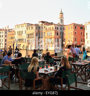 Grand canal grande restaurant Naranzaria, Venice Italy - Stock Image