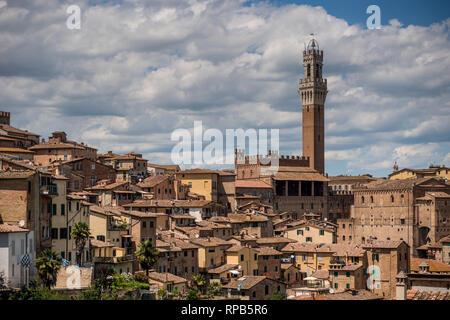 Skyline of Siena, Tuscany, Italy - Stock Image
