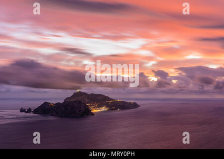 Capri, Napoli, Campania, Italy. Capri island at sunset - Stock Image