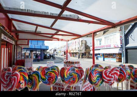 Mablethorpe Lincolnshire UK England, Mablethorpe Town, Mablethorpe high street, Mablethorpe UK, Mablethorpe coastal town UK, towns, Mablethorpe, town, - Stock Image