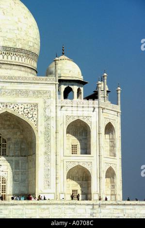 Taj Mahal - Right hand side detail, Rajasthan, India - Stock Image
