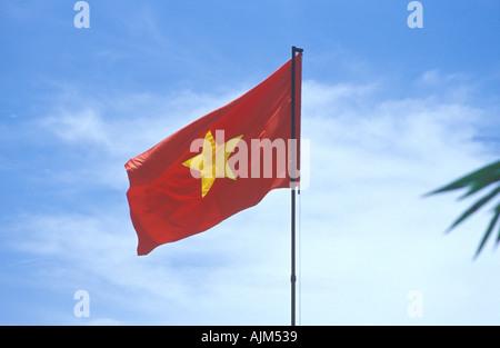Vietnamese flag Vietnam - Stock Image