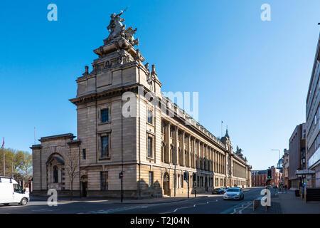 The Guildhall on Alfred Gelder Street, Kingston Upon Hull, Yorkshire, England, U.K - Stock Image