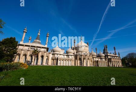The Royal Pavilion and Gardens Brighton UK - Stock Image