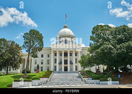 The Alabama State Capitol building in Montgomery Alabama is the seat of Alabama state government in Alabama USA. - Stock Image