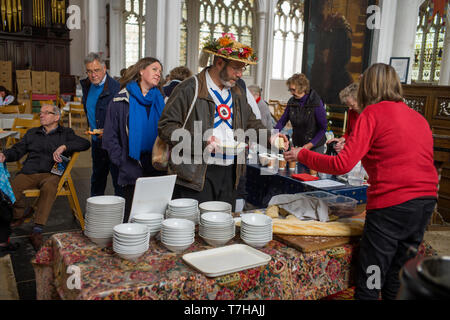 Thaxted Essex England UK. 6 May 2019. Craft Fair in Thaxted Church. - Stock Image