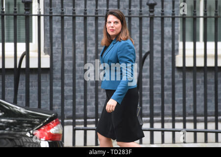 Minister of State for Immigration Caroline Nokes arrives for a cabinet meeting at 10 Downing Street, London. - Stock Image
