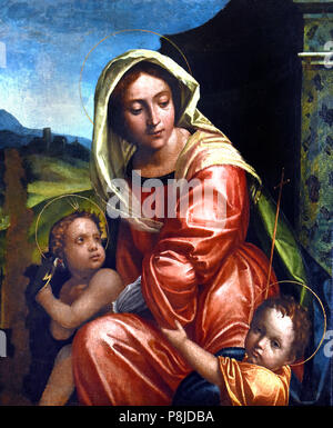 Madonna col Bambino - Madonna and Child, by, Italy, Italian. - Stock Image