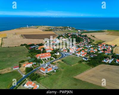 France, Hauts de France, Pas de Calais, aerial pic. Cape Gris-Nez - Stock Image