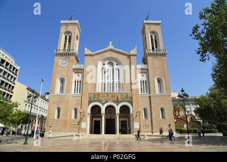 Metropolitan Cathedral of Athens - Stock Image