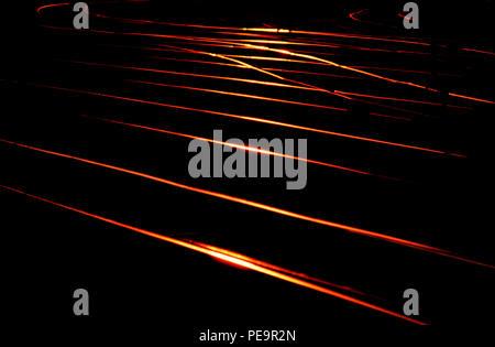 Railway Lines at dusk. London - Stock Image