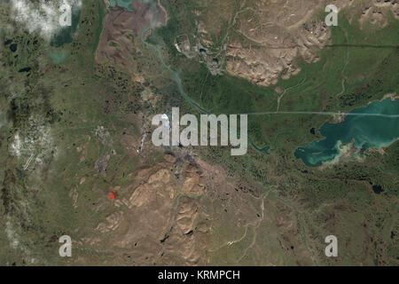 IDL TIFF file Norilsk by satellite 2016 - Stock Image