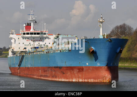 Chemical/Oil Products Tanker Star I eastbound in the Kiel Canal. - Stock Image