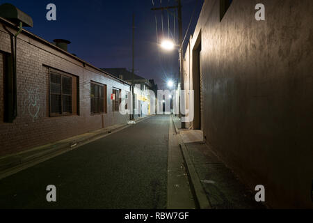 back alley at night - Stock Image