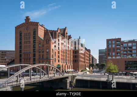 International Maritime Museum exterior facade, part of the Warehouse District, Hafencity, Hamburg, Germany - Stock Image