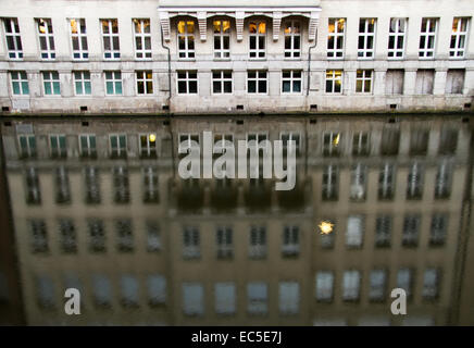 reflection of a building in water - Stock Image