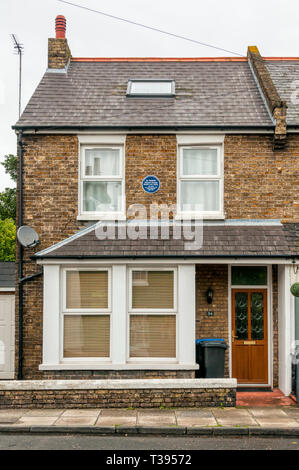 The semi-detached house in Albion Road, Broadstairs, that was the birthplace of Ted Heath.  British Prime Minister 1970-1974. - Stock Image