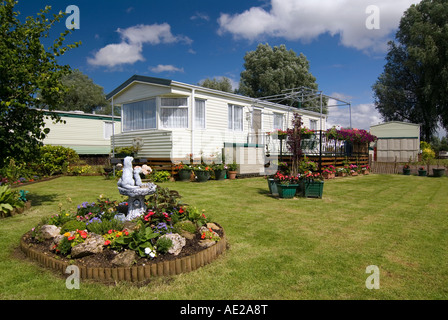 Cosgrove caravan park near the City of Milton Keynes - Stock Image