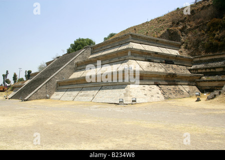 Building F, the Archaeological Excavations at the Great Pyramid of Cholula, Mexico - Stock Image