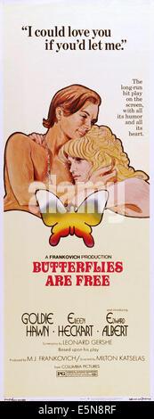 BUTTERFLIES ARE FREE, Eileen Heckart, Goldie Hawn, Edward Albert, 1972 - Stock Image