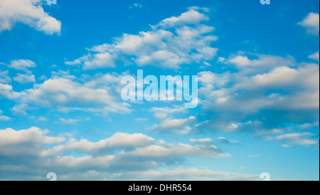 blue sky with white clouds for backdrop - Stock Image
