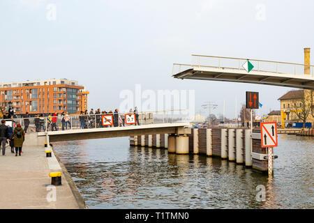 Olowianka Footbridge, Gdansk, Poland - Stock Image