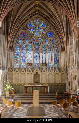 The Lady Chapel of Exeter cathedral, Devon. - Stock Image