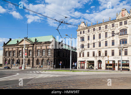 Historical Buildings Facade Poznan Poland - Stock Image