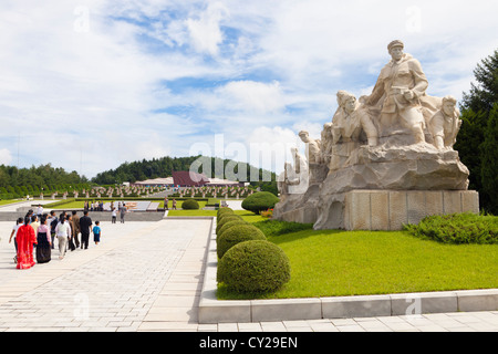 The Revolutionary Martyrs' Cemetery, Pyongyang, North Korea - Stock Image