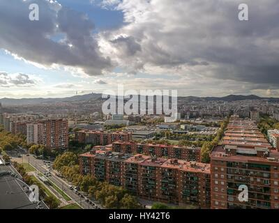 High Angle View Of City - Stock Image