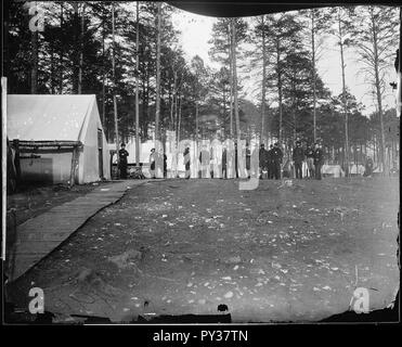 Camp scene, headquarters, Army of the Potomac, Brandy Station, winter of 1864. - Stock Image