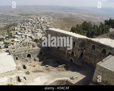 Crac des Chevaliers crusander castle in syria - Stock Image