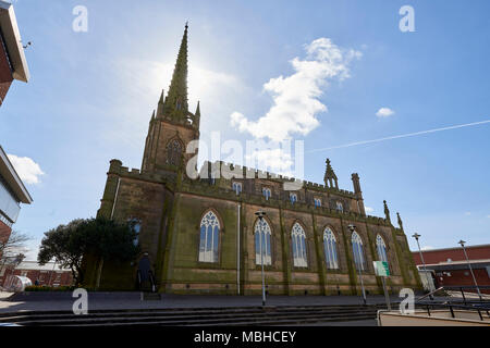 Angle shot of Christ Central Preston Church seen from its grounds in Preston, UK. - Stock Image