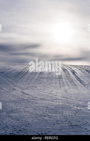Snowy Hill - Stock Image