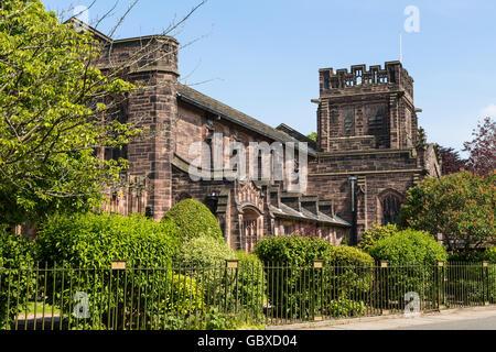 Christ church, Port Sunlight village, Wirral, England - Stock Image