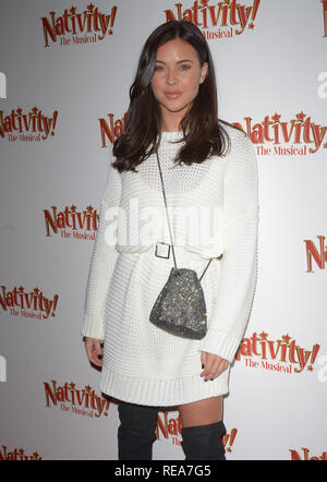 Celebrities attend 'Nativity! The Musical' Press Night held at the Hammersmith Apollo theatre  Featuring: Shelby Tribble Where: London, United Kingdom When: 20 Dec 2018 Credit: WENN.com - Stock Image