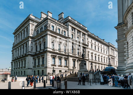 London, UK - May 15, 2019: Churchill War Rooms and Robert Clive Memorial - Stock Image