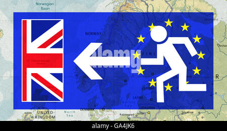 Brexit, Proposed referendum on United Kingdom membership in the European Union, UK as an escape route from the EU, - Stock Image