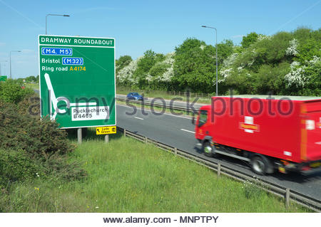 The Avon Ring Road ( A4174 ) in South Gloucestershire, north of Bristol, UK. - Stock Image