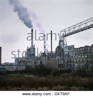 Factory in Trafford Park, Manchester, 1995 - Stock Image