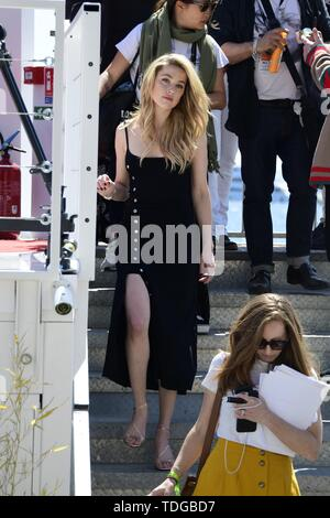 72nd Cannes Film Festival 2019 - Amber Heard takes part in a photo shoot in Cannes  Featuring: Amber Heard When: 16 May 2019 Credit: IPA/WENN.com  **Only available for publication in UK, USA, Germany, Austria, Switzerland** - Stock Image